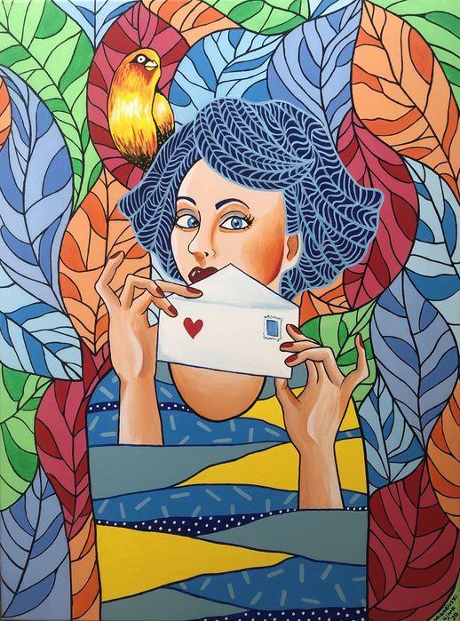 Obraz akrylowy ręcznie malowany na płótnie 60x80 cm Wrocław - image 1
