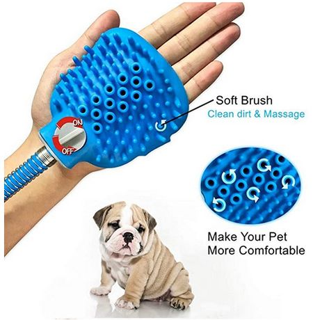 Chuveiro massajador para animais