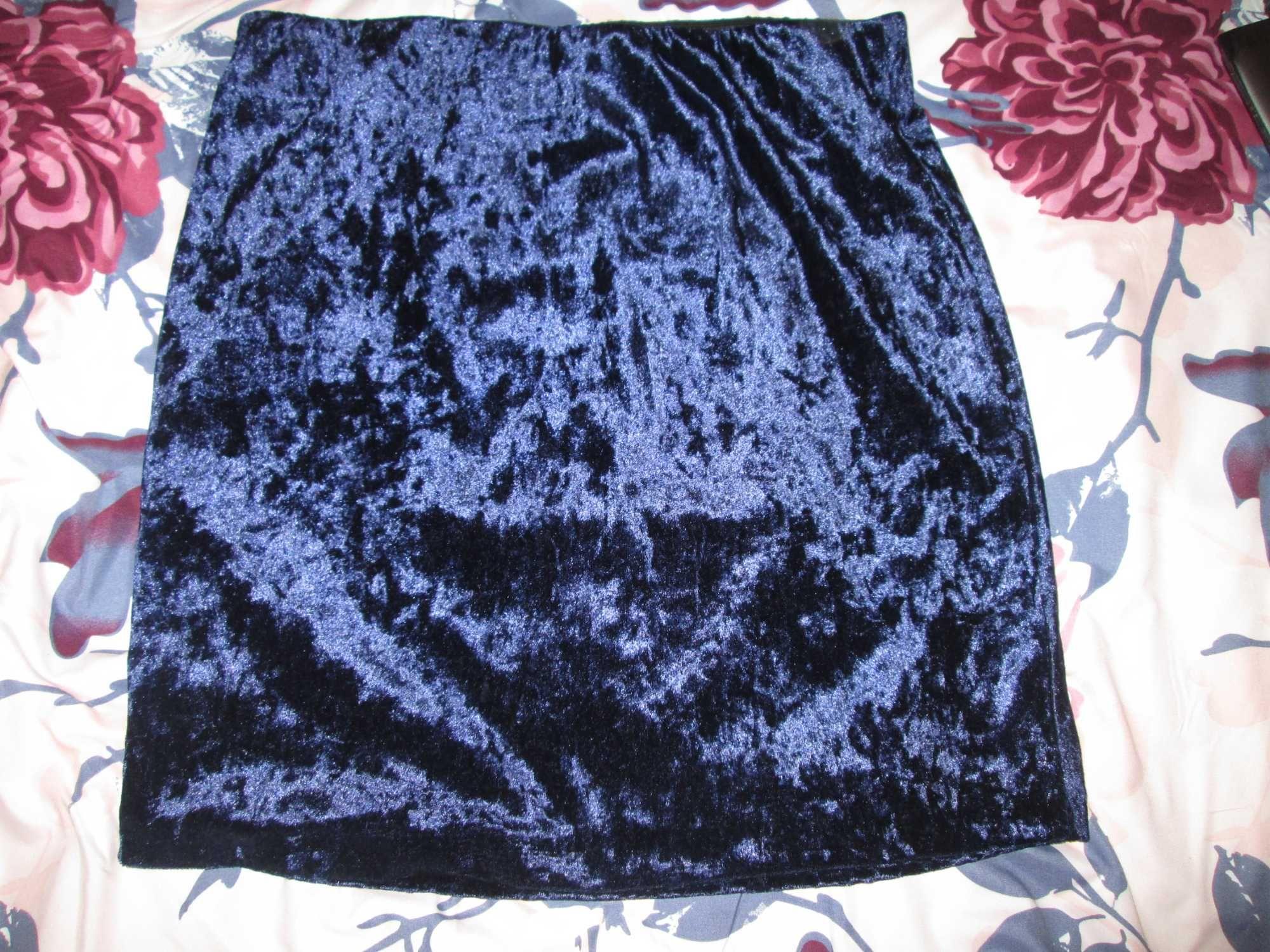 Spódniczka welurowa piękny kolor ESMARA, rozm. 36/38 (S/M)