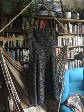 Suknia sukienka wieczorowa elegancka koronkowa 38 M