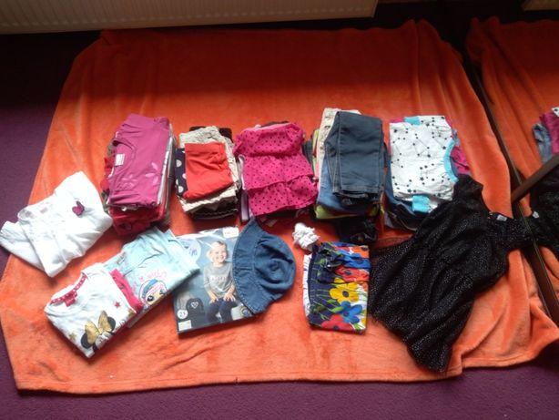 paka ubrań dziewczęcych 110 116
