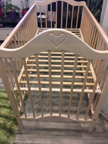 Drewniane łóżeczko dziecięce ręcznie wykonane okazja!