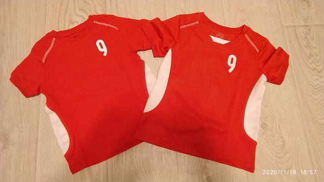 Koszulka T-shirt chłopięca 9 biało czerwona