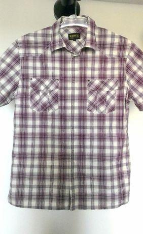 Koszula męska L krótki rękaw w kratę - Kup 2 zapłać za 3