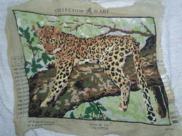 Вышитый леопард, картина