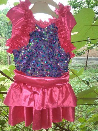 Одежда для девочек, платье для танцев/фигурного катания.