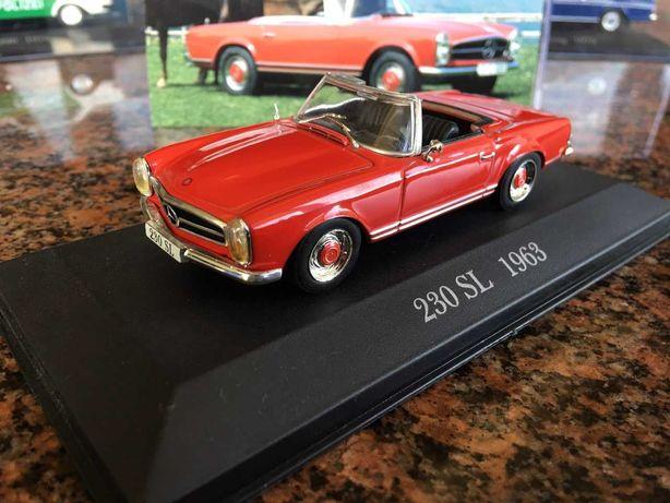 Машина Mercedes-Benz 230SL 1963 модель масштаб 1 43 cabrio