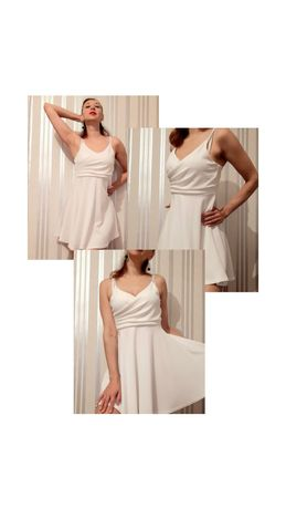 Белое летнее платье.Размер М