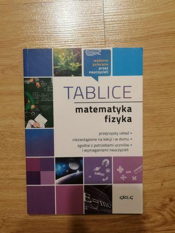 Tablice maturalne matematyka + fizyka greg
