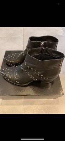 Botki kowbojki Metal Glitter Boots Mako 39