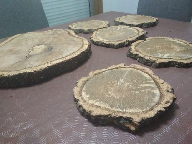 Bases rodelas madeira sobreiro entradas bases bolos