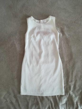 Biała, elegancka sukienka, rozmiar 36