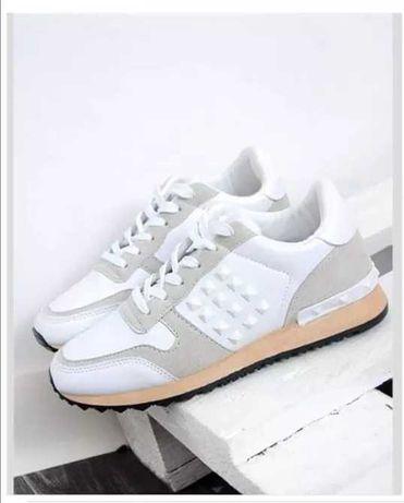 NOWE Białe damskie buty adidasy rozmiar 38 ćwiekowane