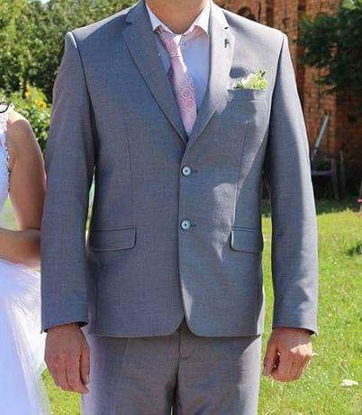 Śliczny garnitur 186cm jak nowy