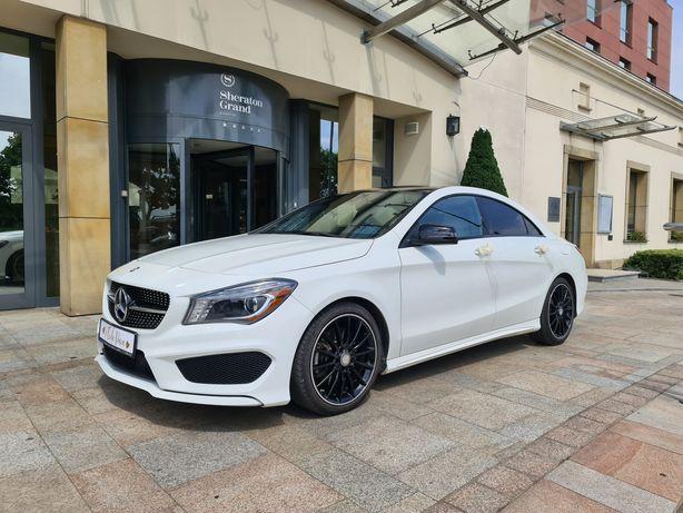 Samochód na wesele Biały Mercedes CLA AMG limuzyna auto na ślub