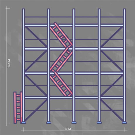 Rusztowanie fasadowe elewacyjne Plettac 105 m2 leasing