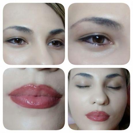 перманентный макияж (татуаж бровей,губ,глаз) / Наращивание ресниц