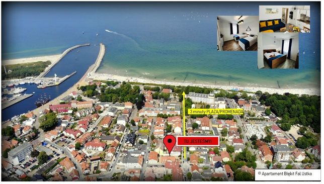 Apartament Błękit Fal Przy Plaży Ustka OZONOWANE 6 miejsc