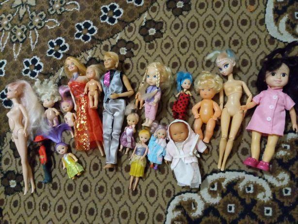 Куклы девочки и пупсики
