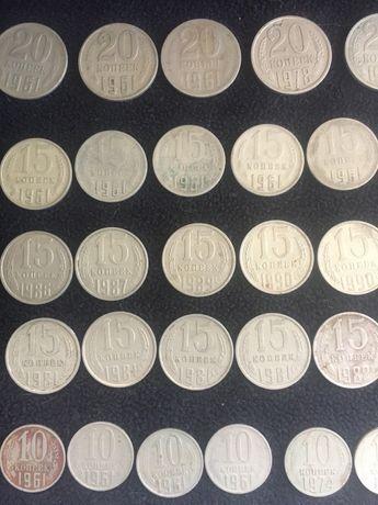 Монеты СССР 1961-1991 копейки деньги 73 шт