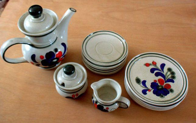 zestaw ceramiczny ręcznie malowany