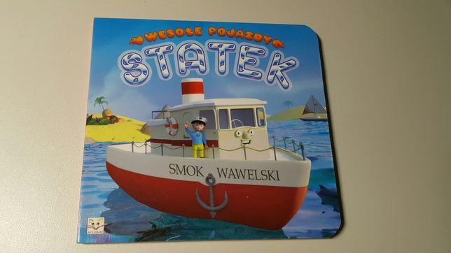 Książeczka dla dziecka z serii wesołe pojazdy statek