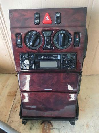 Panel Środkowy konsola przyciski radio Mercedes w210