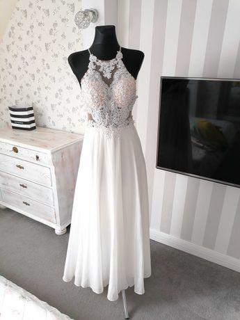 Absolutnie piękna suknia ślubna rozm 36 38