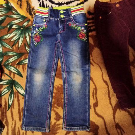 Новые Джинсы, штаны теплые, шорты zara на девочку 2-4 года
