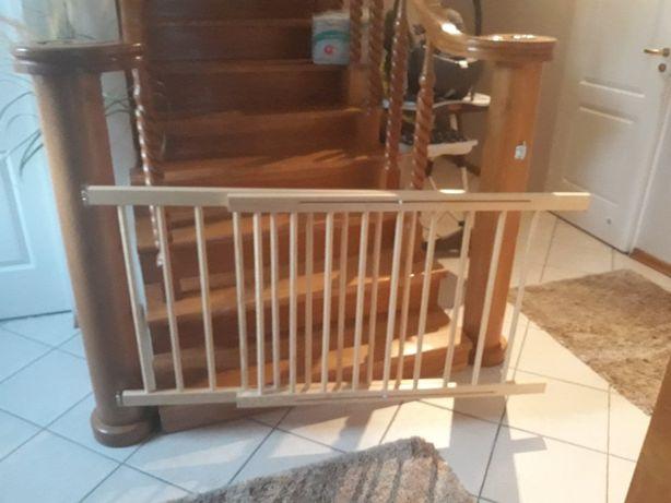 Nowa drewniana BRAMKA OCHRONNA zabezpieczająca m.in schody, regulowana