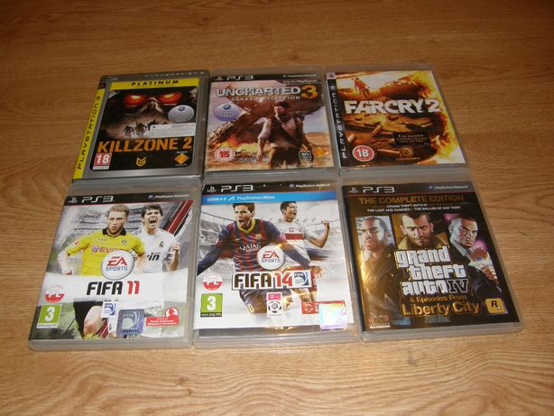 GRY PS3 GTA 4 Complete Edition, FarCry 2, Killzone 2 PL Uncharted 3 PL