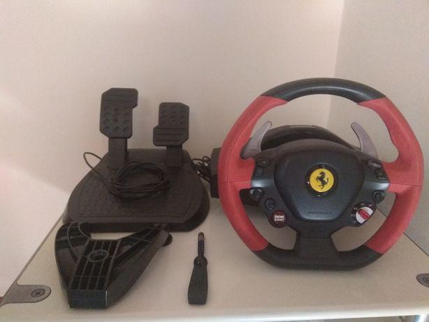 Volante + Pedais Thrustmaster 458 Spider p/ Xbox One