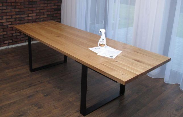 Stół dębowy lity, loft 160/250X80 dostawa i montaż w cenie