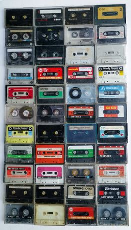 kasety magnetofonowe 138 sztuk w tym chromówki