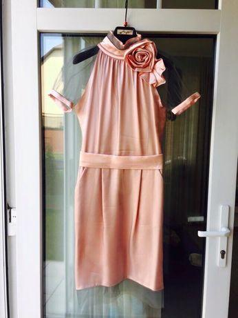 Коктейльное шёлковое платье