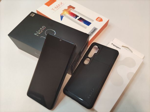JAK NOWY Xiaomi Mi Note 10 Midnight Black 6GB/128GB + Gratisy -Wrocław