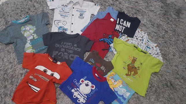 Koszulki krótki rękaw na lato 2 3 lata 98 h&m toy story cars star war