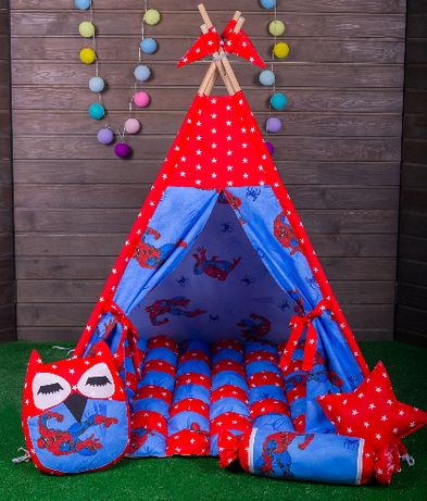 Вигвам для мальчика. Детская игровая палатка, домик, шалаш, шатер