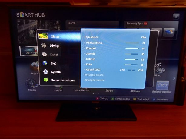 "Tv Samsung 46"" 3 D 400 Hz + okulary."