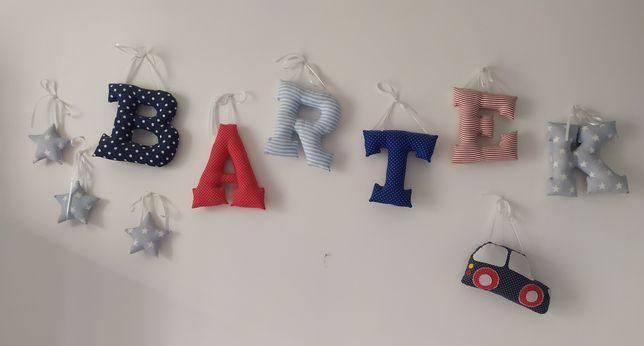 Napis literki, pokój dziecięcy, imię BARTEK + gratis.