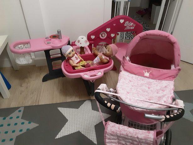 SMOBY Baby Nurse , zestaw opiekunka , lalka born +wózek gratis namiot