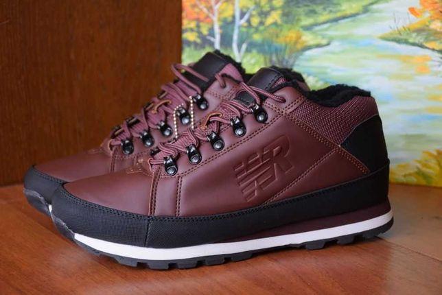 Отличные Зимние ботинки мужские городские кроссовки на меху, EUR44