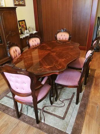 Zestaw stół i krzesła antyk