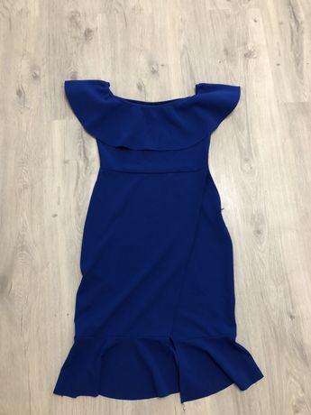Синие платье размер С 180
