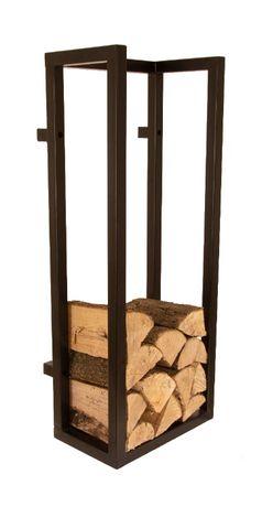 Stojak wiszący na drewno kominkowe w styl loft industrial