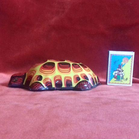 Игрушка инерционная Черепаха Чехословакия Металл Клеймо 60-тые