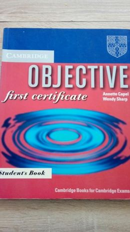 Objective first certificate
