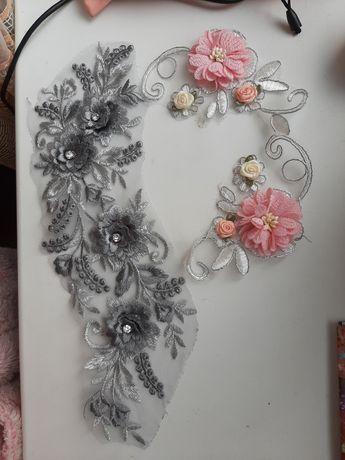 Нашивка цветы патч