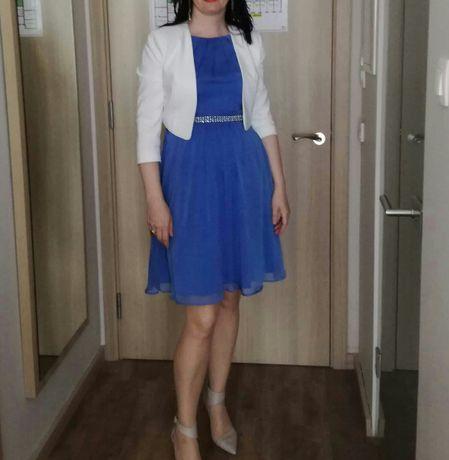 niebieska sukienka Orsay