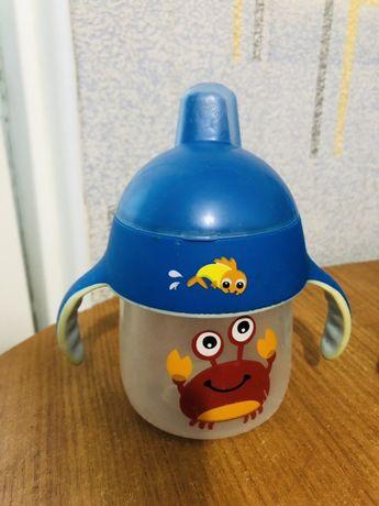 Чашка-непроливайка с носиком, 200 мл, голубая - Philips Avent